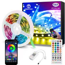 10-30m LED Stripe RGB Dimmbar Lichterkette Bluetooth+Musik+Fernbedienung+APP