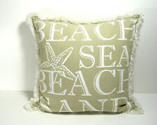 Beach House Coastal Pillow Down Filled, New