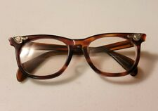 Vintage AMERICAN OPTICAL Eyeglasses 1950s / 60s Size 5 1/4 Tortoise Shell MCM