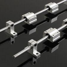 2x 400mm Linear Shaft Rail+4x SK8 SCS8UU Guide Bearing Block For 3D Printer CNC
