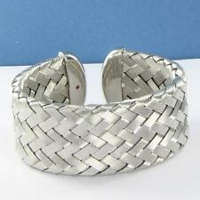Roberto Coin 5th Season Medium Woven Cuff Bracelet Sterling Silver NWOT $1190