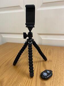 Mini Tripod Stand Smartphone Octopus Adjustable Legs Bluetooth Remote Shutter
