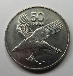 Botswana 50 Thebe 1984 Copper-Nickel KM#7 UNC