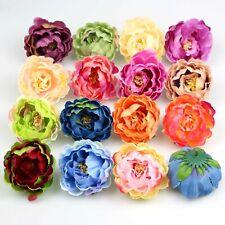 10-100X Artificial Bud 6cm peony flower head for wedding Wreath DIY Fake Flowers