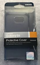 New Original Samsung Protective Cover Case for Galaxy S6 Clear / Black