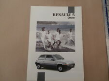 Renault 5 Campus 1991  Foldout Sales Brochure 1.1 - 1.4