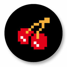 Magnet Aimant Frigo Ø38mm Retro Game Arcade Game Vintage Jeux 80s Pacman Cherry