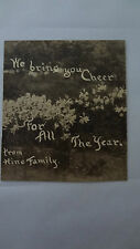 LEWIS WICKES HINE Vintage Photograph Card of wife Sara's FLOWERS family garden
