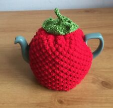 Hand Knitted Raspberry Tea Cosy