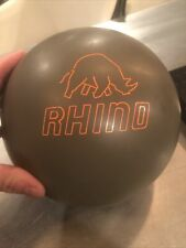 New listing Original Brunswick Grey Rhino Urethane Bowling Ball 14 Lbs 2 Ozs SINGLE Drill