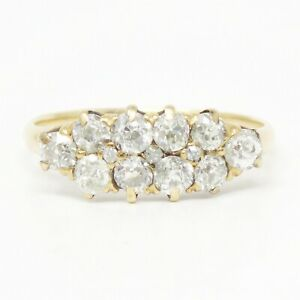 NYJEWEL Estate 14k Yellow Gold 1.2ct Diamond Ring Size 5.75 With Appraisal