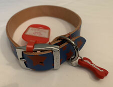 Cath Kidston Large Leather Star Print Dog Collar BNWT