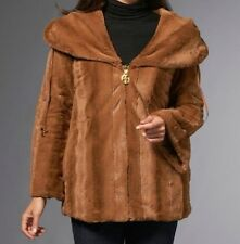 IMAN Luxury Mink Faux Fur Jacket Platinum Collection $199.95 CAMEL Small