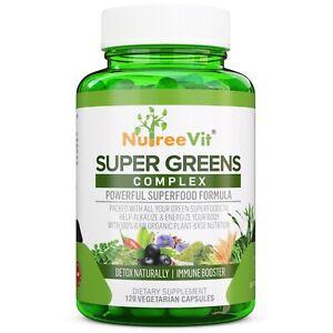 SuperGreens - Spirulina, Chlorella, Wheatgrass + More - Energy & Immune Booster