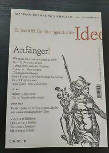 Zeitschrift für Ideengeschichte Heft I/2 Sommer 2007 / Zustand sehr gut