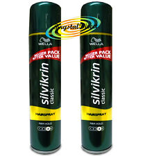 2x Wella Silvikrin Classic Hair Spray #4 FIRM HOLD Hairspray 400ml