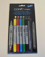COPIC CIAO BRIGHTS SET TWIN TIPPED MARKERS PLUS 0.3 FINELINER *FREEPOST*