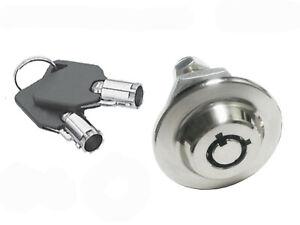 "Homak safe lock Gun Cabinet 5/8"" Replacement Keyed Alike w/black cover 2417"