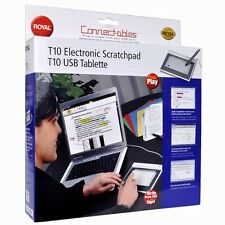 "5.75"" x 3.38"" Royal T10 USB Electronic Scratchpad/Graphics Tablet w/Cordless Pen"