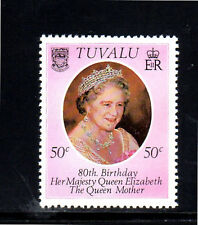 TUVALU #137  1980  QUEEN MOTHER 80TH BIRTHDAY     MINT  VF NH  O.G  a