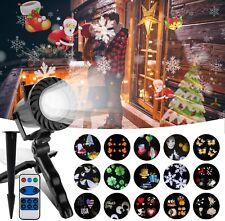 LED Schneeflocke Projektionslampe Licht Weihnachten Outdoor Garten 15 Musters