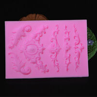 Silicone Sculpted Flower Lace Mould Candy Jello 3D Cake Mold Fondant Decor Tool*