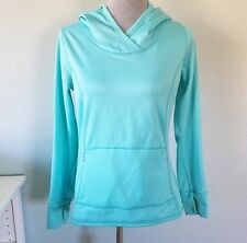 Xersion Small Hoodie Pullover Light Blue Fleece Pockets Activewear Workout Soft