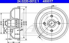 ATE Juego de 2 tambores frenos OPEL CORSA VAUXHALL NOVA TIGRA 24.0220-0012.1