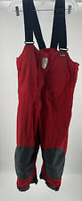 GILL SAILING OVERALLS SIZE 12 WATERPROOF BIB Red