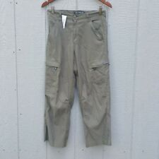 Vintage Levi's Silver Tab Olive Green Utility Cargo Capri Pant Size 16 XL Misses
