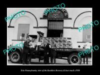 OLD POSTCARD SIZE PHOTO OF ERIE PENNSYLVANIA THE KOEHLER BREWERY TRUCK c1950