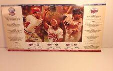 MINNESOTA TWINS MLB KIRBY PUCKETT TICKET STRIP MAY 23-27, 1997 UNCUT Baseball