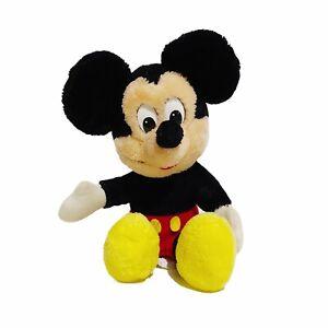 "Mickey Mouse Disneyland Walt Disney World Vintage 80's Plush 10"" Soft Toy"