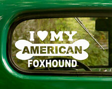 2 I Love My American Foxhound Dog Stickers Breed Decal for Car Truck Laptop