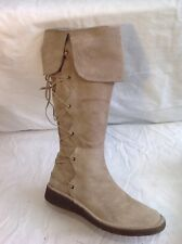 Moda In Pelle Brown Knee High Suede Boots Size 38