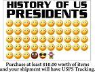 Anti Joe Biden 'HISTORY OF U.S. PRESIDENTS window/bumper sticker 6' x 4' Decal