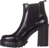 G by Guess Womens Starly Almond Toe Ankle Fashion Boots, Black, Size 7.5 hzgy