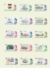 Bahamas, 1967 QEII  decimal pictorials complete set LMM (B031)