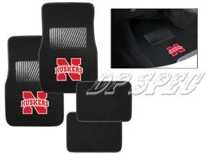 UN NEBRASKA CORNHUSKERS NCAA 4PCS CARPET FLOOR MATS FOR CAR & TRUCK