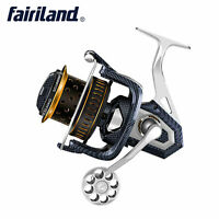4.1:1 Ultra Smooth Spinning Reel Large CNC Aluminum Spool Powerful Fishing Reels
