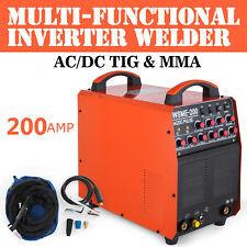 Saldatrice Inverter TIG WIG 200 AC/DC Pulse TIG MMA Alluminio Saldatura IGBT