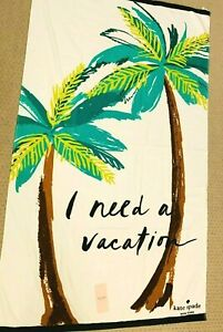 """Kate Spade New York Vacation Oversized Beach Towel -40""""x70"""", cotton mult-color"""