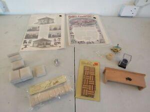 Lettie Lane Doll House Paper Furniture Add Parque Flooring Shingles Accessories