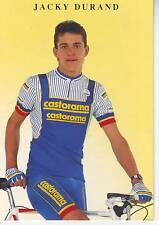 CYCLISME carte cycliste JACKY DURAND équipe CASTORAMA  1991