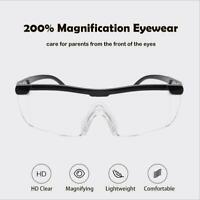 200% Magnifying Magnification Eyewear Reading Watching TV Glasses Eyeglasses