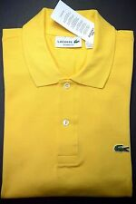 NWT Lacoste L1212 Men's Classic Fit Medium Yellow Cotton Polo Shirt 4XL Eur 9