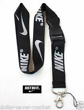 NIKE Silver Lanyard ID Holder Keychain cell phone Fitness Runners Sport NFL NBA