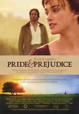 PRIDE & PREJUDICE Movie Promo POSTER Keira Knightley Matthew MacFadyen