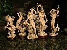 RARE! Set of 5 1993 Armani Ltd Ed Nude Sculpture Figurines - signed by Artist!