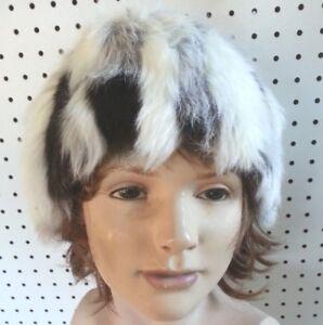 """Handmade Hat Ear Warmer Faux Fur Bucket Type 29 1/2"""" Warm Winter Ski Wear"""